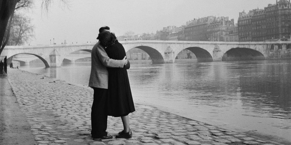 Le baiser rive de seine vintage